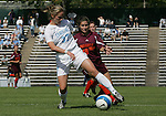 North Carolina's Sterling Smith (37) is defended by Virginia Tech's Mary Elizabeth Newton (15) on Sunday, October 15th, 2006 at Fetzer Field in Chapel Hill, North Carolina. The University of North Carolina Tarheels defeated the Virginia Tech Hokies 1-0 in an Atlantic Coast Conference NCAA Division I Women's Soccer game.