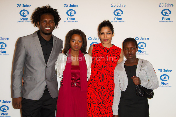 Freida Pinto with godchildren of Plan International Deutschland e.V. attending the 25 years Plan International Deutschland e.V.(german children help organisation) charity gala held at Fischauktionshalle, Hamburg, Germany, 01.03.2014. <br /> Photo by Christopher Tamcke/insight media /MediaPunch ***FOR USA ONLY***