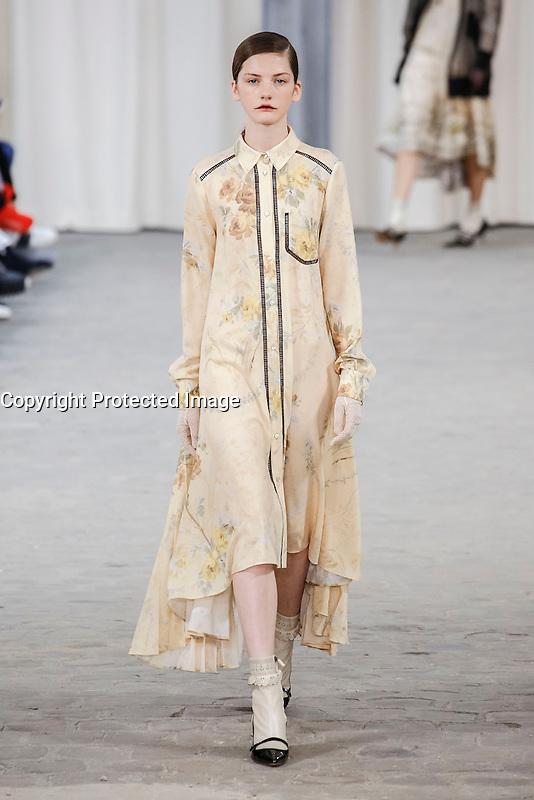 Paris, France, 03/10/2016 - Veronique Branquinho Fashion show during Paris Fashion Week. Womenswear, ready to wear, prÍt a porter, summer 2017. # FASHION WEEK DE PARIS - DEFILE VERONIQUE BRANQUINHO