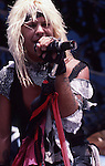 Vince Neil of Motley Crue performing live at the Monsters of Rock Festival in Castle Donnington, England Aug 1984. Donnington Monsters of Rock 1984 Donnington 1984