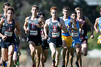 Stanford, CA - September 29, 2018: Team members run together during the Stanford Cross Country Invitational held Saturday morning on the Stanford Golf course.