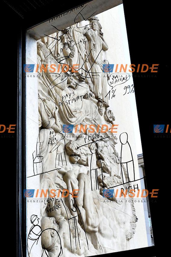 Palais de Tokyo al Museo Nazionale d'Arte Moderna di Parigi,  dove l'arte è all'interno di una fabbrica .abbandonata..13/04/2012 Parigi.Foto Insidefoto / Gerard Roussel / Panoramic..Italy Only