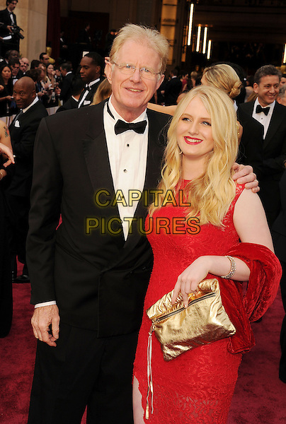 HOLLYWOOD, CA- MARCH 02: Actor Ed Begley Jr.; Hayden Carson Begley  attend the 86th Annual Academy Awards held at Hollywood &amp; Highland Center on March 2, 2014 in Hollywood, California.<br /> CAP/ROT/TM<br /> &copy;Tony Michaels/Roth Stock/Capital Pictures