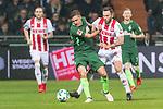 12.03.2018, Weser Stadion, Bremen, GER, 1.FBL, Werder Bremen vs 1.FC Koeln, im Bild<br /> Max Kruse (Werder Bremen #10)<br /> Marco H&ouml;ger / Hoeger (Koeln #06)<br /> <br /> Foto &copy; nordphoto / Kokenge