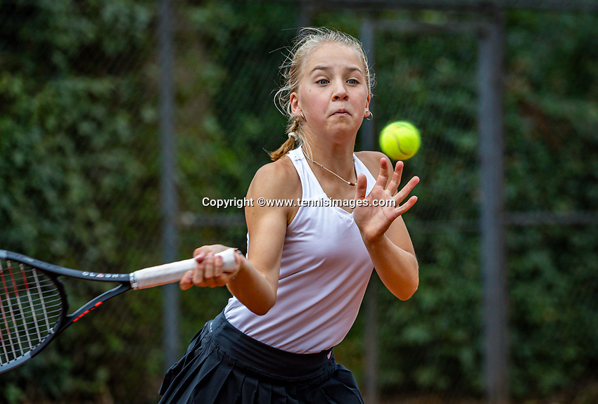 Hilversum, Netherlands, Juli 31, 2019, Tulip Tennis center, National Junior Tennis Championships 12 and 14 years, NJK, Girls Doubles:  Senna van den Heuvel (NED)<br /> Photo: Tennisimages/Henk Koster