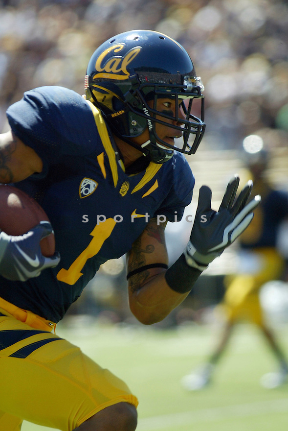 MARVIN JONES, of the California Golden Bears, in action during the Golden Bears game against the Colorado Buffaloes on September 11, 2010 in Berkeley, California...California won the game 52-7..