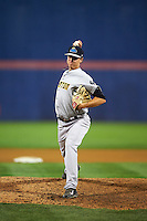 Trenton Thunder pitcher Conor Mullee (39) delivers a pitch during a game against the Binghamton Mets on August 8, 2015 at NYSEG Stadium in Binghamton, New York.  Trenton defeated Binghamton 4-2.  (Mike Janes/Four Seam Images)