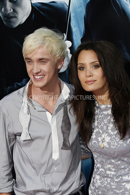 WWW.ACEPIXS.COM . . . . .  ....July 9 2009, New York City....Actor Tom Felton and guest at the New York premiere of 'Harry Potter and the Half-Blood Prince' at Ziegfeld Theatre on July 9, 2009 in New York City....Please byline: NANCY RIVERA- ACE PICTURES.... *** ***..Ace Pictures, Inc:  ..tel: (212) 243 8787 or (646) 769 0430..e-mail: info@acepixs.com..web: http://www.acepixs.com