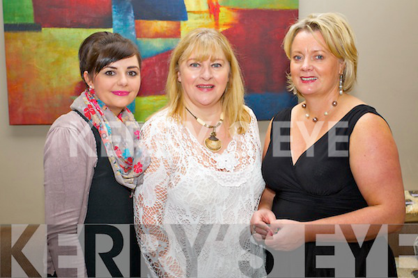 Gemma Higgs (The Carlton) Rita Bonn (Ógra Skincare) and  Bennie Glavin (Ógra Skincare) pictured at the Enable Ireland Fashion lunch on Sunday in Ballyroe Heights hotel.
