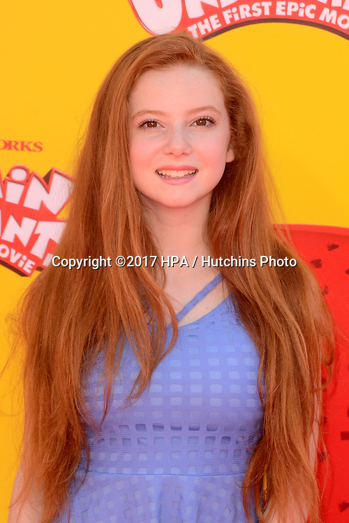 """LOS ANGELES - MAY 21:  Francesca Capaldi at the """"Captain Underpants"""" Los Angeles Premiere at the Village Theater on May 21, 2017 in Westwood, CA"""