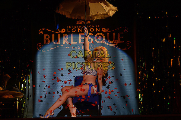 LONDON , ENGLAND - MAY 20 ;  Isabella Bliss appearing at The London Burlesque Festival in London , England , May 20th 2014<br /> CAP/IA<br /> &copy;Ian Allis/Capital Pictures
