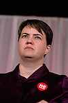 Scottish Conservative party leader Ruth Davidson MSP speaking at an anti-Scottish independence Better Together rally at Community Central Hall, Glasgow. The event was staged by Better Together who were campaigning to prevent an independent Scotland from leaving the United Kingdom. On the 18th of September 2014, the people of Scotland voted in a referendum to decide whether the country's union with England should continue or Scotland should become an independent nation once again.
