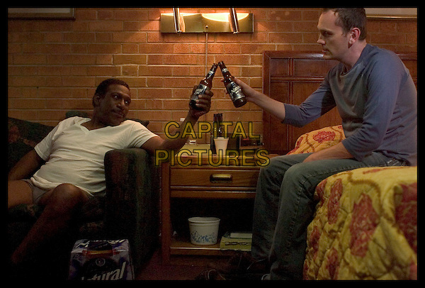 Kene Holliday and Patrick Healy <br /> in Great World of Sound (2007) <br /> *Filmstill - Editorial Use Only*<br /> CAP/NFS<br /> Image supplied by Capital Pictures