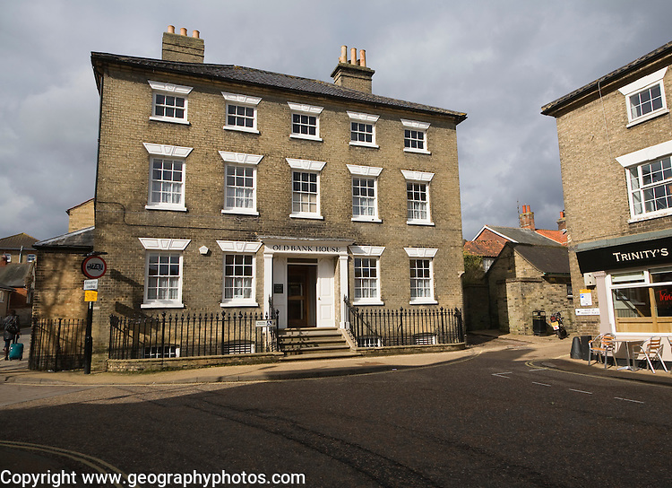 Early nineteenth century Old Bank House, Saxmundham, Suffolk, England