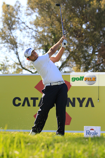 Alexander Levy (FRA) on the 13th tee during Thursday's Round 1 of The Open De Espana at The PGA Catalunya Resort. 15th May 2014.<br /> Picture:  Thos Caffrey / www.golffile.ie