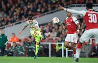 Leonardo Bittencourt of FC Koln hits a shot at goal during the UEFA Europa League match between Arsenal and FC Koln at the Emirates Stadium, London, England on 14 September 2017. Photo by Andrew Aleks.