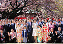 Prime Minister SHinzo Abe hosts a cherry blossom viewing party