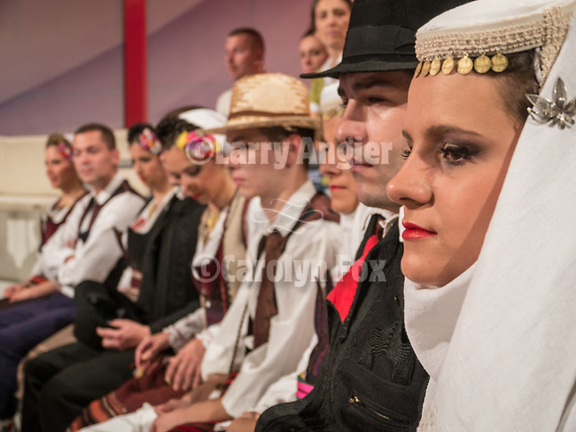 Zika show, a live TV variety show watched each Saturday morning by 25% of the Serbian people during it's production and broadcast  in Belgrade, Serbia<br /> <br /> ethnic Serbian dancers