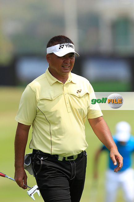 Marden Mamat (SIN) on the 9th fairway during Round 4 of the True Thailand Classic at the Black Mountain Golf  Club on Sunday 15th February 2015.<br /> Picture:  Thos Caffrey / www.golffile.ie