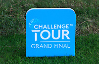 Challenge Tour Tee Marker during the Pro-Am of the Challenge Tour Grand Final 2019 at Club de Golf Alcanada, Port d'Alcúdia, Mallorca, Spain on Wednesday 6th November 2019.<br /> Picture:  Thos Caffrey / Golffile<br /> <br /> All photo usage must carry mandatory copyright credit (© Golffile | Thos Caffrey)