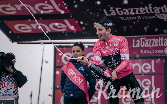 Simon Yates (GBR/Mitchelton-Scott) even stronger in pink after the finish up the infamous Monte Zoncolan<br /> <br /> stage 14 San Vito al Tagliamento – Monte Zoncolan (186 km)<br /> 101th Giro d'Italia 2018