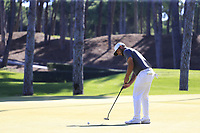 Alexander Levy (FRA) putts on the 10th green during Thursday's Round 1 of the 2018 Turkish Airlines Open hosted by Regnum Carya Golf &amp; Spa Resort, Antalya, Turkey. 1st November 2018.<br /> Picture: Eoin Clarke | Golffile<br /> <br /> <br /> All photos usage must carry mandatory copyright credit (&copy; Golffile | Eoin Clarke)