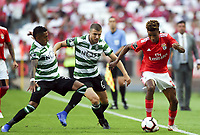 (180826) -- LISBON, Aug. 26, 2018 (Xinhua) -- Gedson Fernandes (1st R) of Benfica competes during the Portuguese League soccer match between SL Benfica and Sporting CP at Luz Stadium in Lisbon, Portugal, on Aug. 25, 2018. The match ended with a 1-1 tie. (Xinhua/Zhang Yadong) (SP)PORTUGAL-LISBON-FOOTBALL-PORTUGUESE LEAGUE-BENFICA VS SPORTING PUBLICATIONxNOTxINxCHN<br /> Foto Imago/Insidefoto