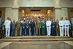 King Juan Carlos I of Spain at the close of the XIII year of staff of the Armed Forces at the Center for Advanced Studies of National Defense (CESEDEN).(Alterphotos/Ricky)