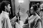 INDIA Maharashtra Mumbai Bombay, filmstar and actress Hema Malini during film shooting Bhagbaan at studio in film city Goregoan / INDIEN Mumbai, Bollywood, Schauspilerin hema Malini bei Dreharbeiten zum Film Bhagban im Studio in der Filmcity in Goregoan - copyright Joerg Boethling, Also as signed black&white fine print available.