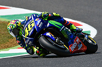 SCARPERIA,FLORENCE, ITALY - JUNE 02:,2017 Valentino Rossi of Itay Movistar Yamaha MotoGP drive his bike in Free Practice MotoGP Gran Premio d'Italia- at Mugello Circuit. on june 02, 2017 in Scarperia Italy.<br /> Photo Marco Iorio/Insidefoto