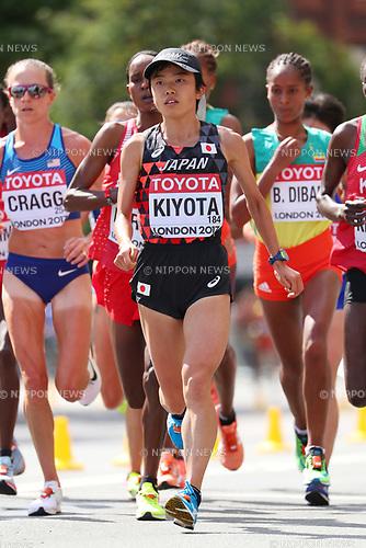 Mao Kiyota (JPN), <br /> AUGUST 6, 2017 - Athletics : <br /> IAAF World Championships London 2017 <br /> Women's Marathon <br /> in London, UK. <br /> (Photo by YUTAKA/AFLO SPORT)