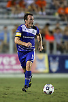 16 August 2014: Edmonton's Albert Watson (NIR). The Carolina RailHawks played FC Edmonton at WakeMed Stadium in Cary, North Carolina in a 2014 North American Soccer League Fall Season match. Edmonton won the match 3-2.