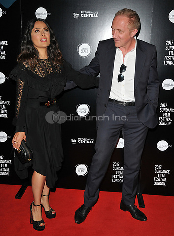 Salma Hayek and Francois-Henri Pinault at the &quot;Beatriz At Dinner&quot; Sundance Film Festival: London opening film premiere, The Mayfair Hotel, Stratton Street, London, England, UK, on Thursday 01 June 2017.<br /> CAP/CAN<br /> &copy;CAN/Capital Pictures /MediaPunch ***NORTH AND SOUTH AMERICAS ONLY***