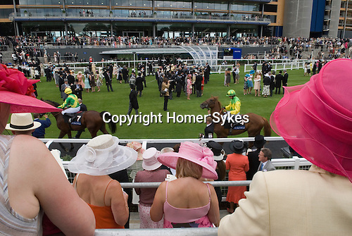 Horse racing. The new parare ring at Royal Ascot, Berkshire, England. 2006.