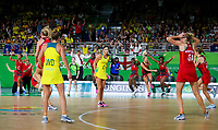 Picture by Alex Whitehead/SWpix.com - 15/04/2018 - Commonwealth Games - Netball - Coomera Indoor Sports Centre, Gold Coast, Australia - England players celebrates after defeating Australia in the Gold medal final.