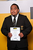 Weightlifting winner Cappper Alefaio from Massey High School. ASB College Sport Auckland Secondary School Young Sports Person of the Year Awards held at Eden Park on Thursday 12th of September 2009.