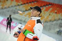 SPEEDSKATING: SOCHI: Adler Arena, 19-03-2013, Training, Jillert Anema (trainer/coach BAM), © Martin de Jong