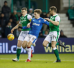 Josh Windass with Paul Hanlon and Darren McGregor