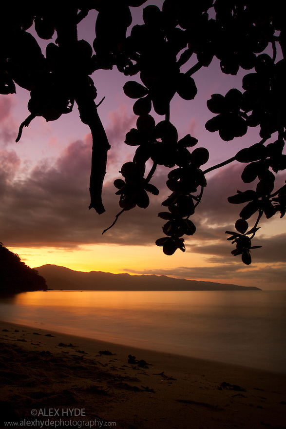 Sunrise over Antongil Bay, Masoala Peninsula National Park, north east Madagascar.