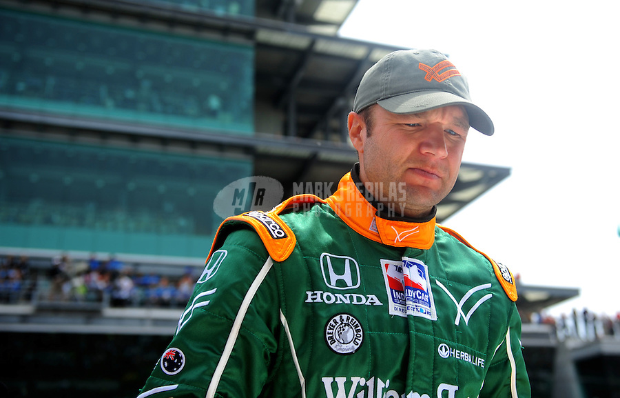 May 25, 2008; Indianapolis, IN, USA; IRL driver Townsend Bell during the 92nd running of the Indianapolis 500 at the Indianapolis Motor Speedway. Mandatory Credit: Mark J. Rebilas-