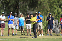 Min Woo Lee (AM)(AUS) in action on the 1st during Round 2 Matchplay of the ISPS Handa World Super 6 Perth at Lake Karrinyup Country Club on the Sunday 11th February 2018.<br /> Picture:  Thos Caffrey / www.golffile.ie<br /> <br /> All photo usage must carry mandatory copyright credit (&copy; Golffile   Thos Caffrey)