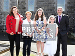 Aoibhinn Sharkey who received first holy communion in the Church of the Assumption in Tullyallen pictured with her family. Photo:Colin Bell/pressphotos.ie