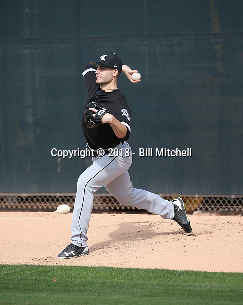 Dylan Cease - Chicago White Sox 2018 spring training (Bill Mitchell)