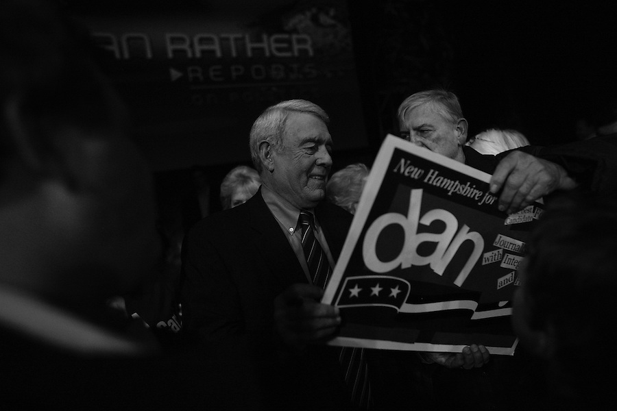"Dan Rather and the crew and staff of his program ""Dan Rather Reports"" cover the 2008 New Hampshire Presidential Primary. His coverage was centered on a two-hour live program presented in front of a live audience - many fans of Rather personally - at the Palace Theatre in downtown Manchester. Rather was also called upon by other journalists to present his views and experiences covering presidential elections for the last half decade."