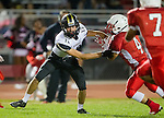Lawndale, CA 09/26/14 - AJ Hezlep (Peninsula #12) in action during the Palos Verdes Peninsula vs Lawndale CIF Varsity football game at Lawndale High School.  Lawndale defeated Peninsula 42-21