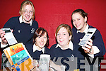 BRAINY BUNCH: Taking part in the Team Maths National Final 2007 on the 3rd of March in the Hamilton Mathematics Institute Trinity College are students from Presentation Secondary School from front l-r were: Karen OMahony and Orla OCarroll. Back l-r were: Aisling Phelan and Emer OMahony.