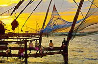 Chinese fishing nets, Fort Cochin, Kochi (Cochin), Kerala, India
