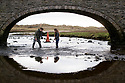 19/01/19<br /> <br /> Brother sister, Dylan Burkey (18) and Alia Burkey (14) find a discarded traffic cone under the bridge at Aberffraw.<br /> Volunteers clean beaches near Cable Bay Anglesey to mark the RSPCA's 'PlastOff2019'<br /> <br /> All Rights Reserved, F Stop Press Ltd +44 (0)7765 242650  www.fstoppress.com rod@fstoppress.com