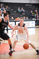 The Occidental College men's basketball team take on Chapman University in Rush Gym, Jan. 13, 2016.<br /> (Photo by Marc Campos, Occidental College Photographer)