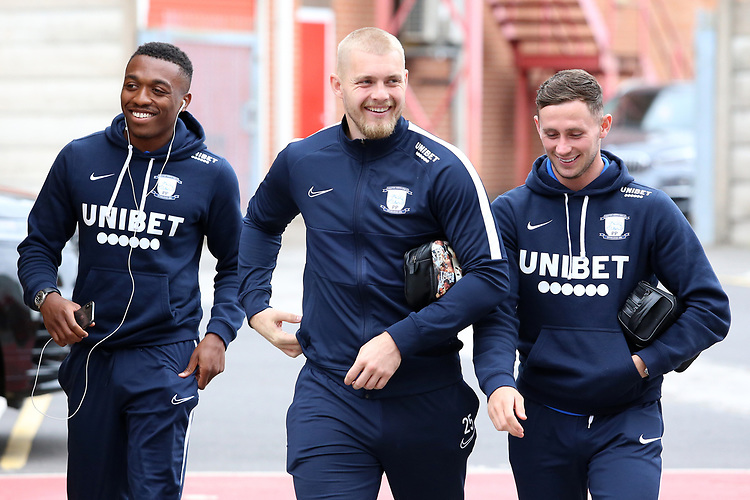 The Preston North End players arrive at The City Ground<br /> <br /> Photographer David Shipman/CameraSport<br /> <br /> The EFL Sky Bet Championship - Nottingham Forest v Preston North End - Saturday 31st August 2019 - The City Ground - Nottingham<br /> <br /> World Copyright © 2019 CameraSport. All rights reserved. 43 Linden Ave. Countesthorpe. Leicester. England. LE8 5PG - Tel: +44 (0) 116 277 4147 - admin@camerasport.com - www.camerasport.com